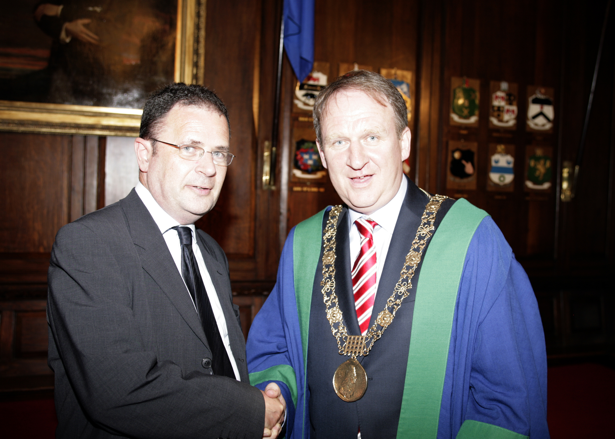 Ruairi with Gerry Breen Lord Mayor