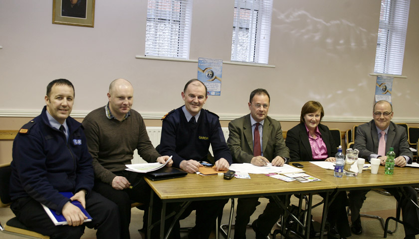 Ruairí chairing D12 Local Policing Forum