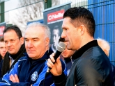 Robbie Keane Martin Loughran Club Secretary and Ruairi McGinley