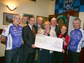 Cheque presentation to Pieta house by Tomas Mulligan memorial cycle group